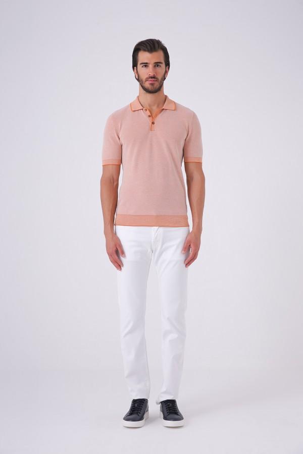 Düğmeli Polo Yaka Tshirt