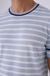 Yuvarlak Yaka Marine Triko Tshirt