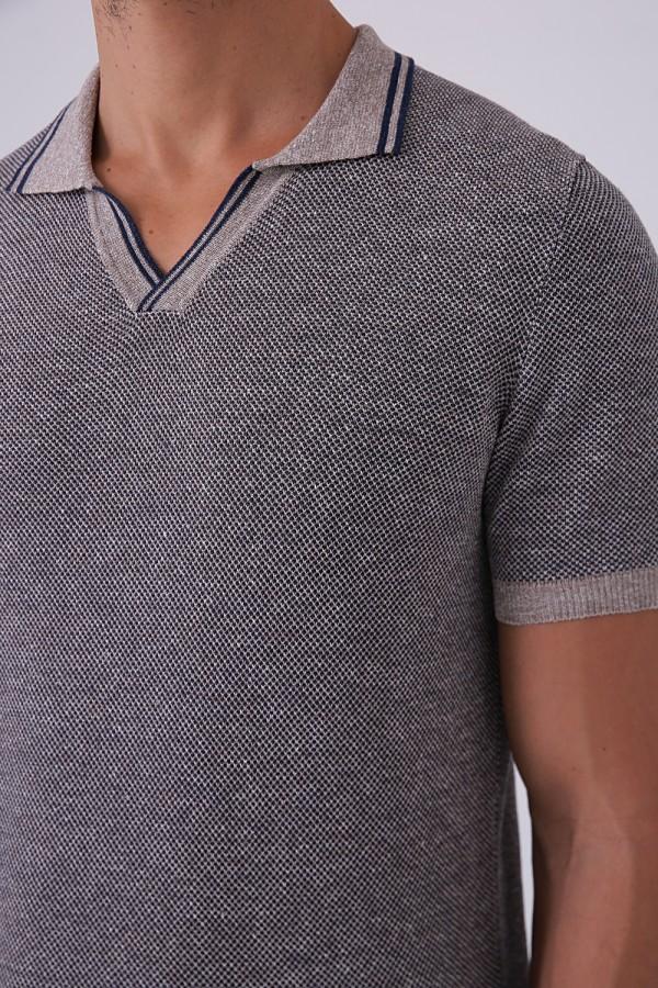 Düğmesiz Polo Yaka Tshirt