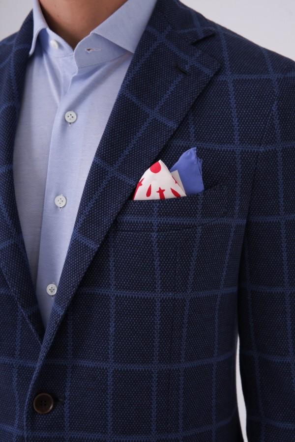 7 Drop Mono Yaka Iki Düğme Napolitan Ceket