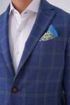 Fit Drop Torba Cepli 2 Düğme Çift Yırtmaç Napolitan Ceket