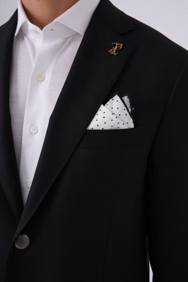 6 Drop Mono Yaka 2 Düğme Çift Yırtmaç Astarlı Ceket