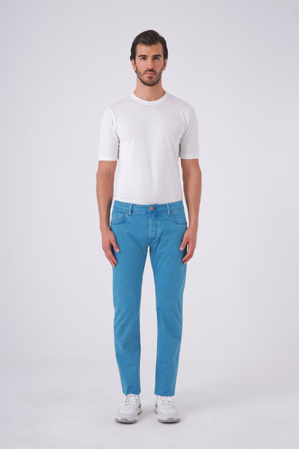 Ravello-C Model Önü Düğmeli 5 Cepli Cotton Pantolon