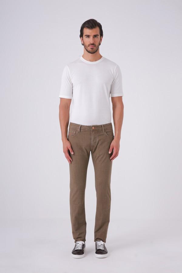 Ravello-C Model Önü Düğmeli  Cepli Cotton Pantolon