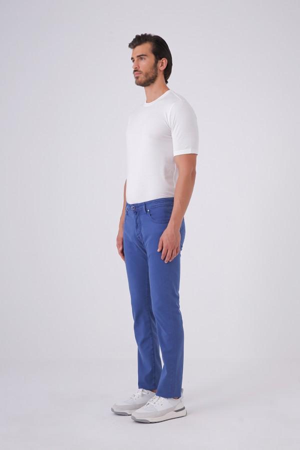 Jean Kesim Beş Cepli Cotton Pantolon