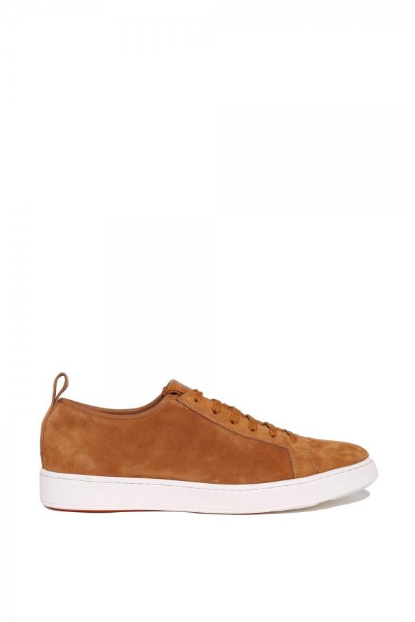 Süet Deri Bağcikli Sneakers