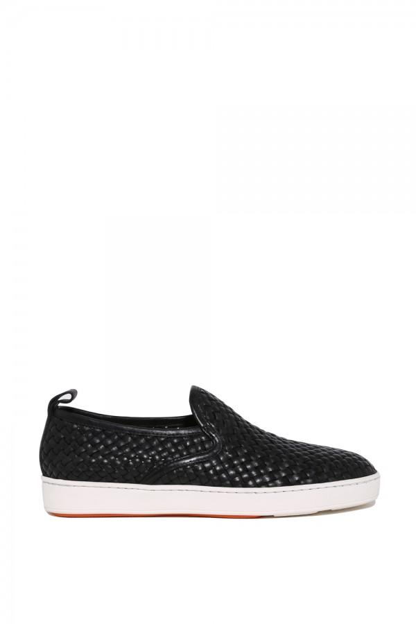Deri Hasır Desen Sneakers