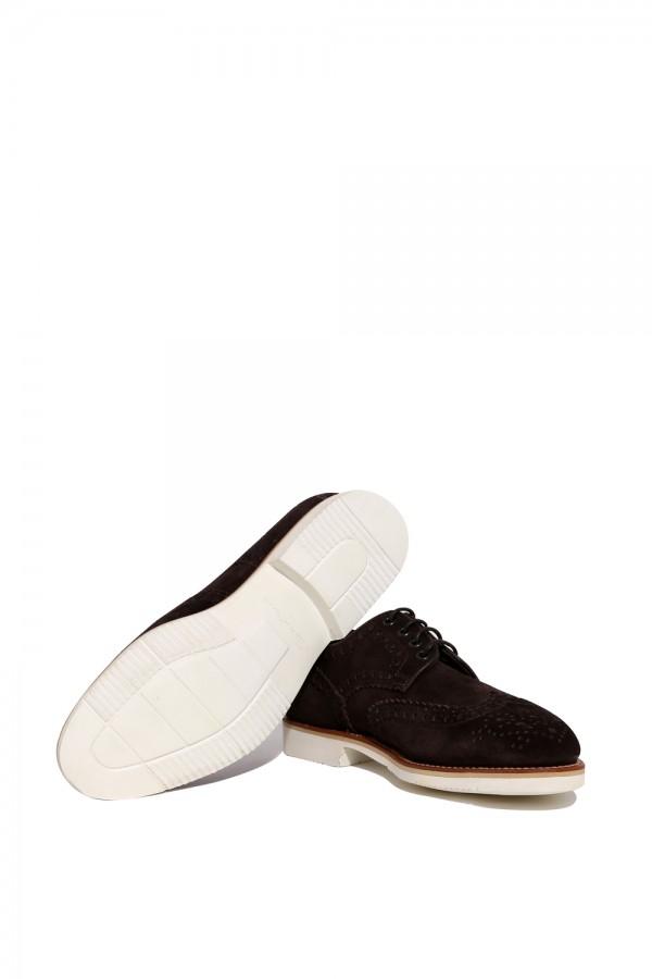 Süet Tabanı Lastik Ayakkabı