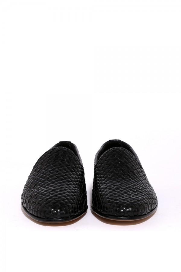 Deri Hasir Desen Loafer