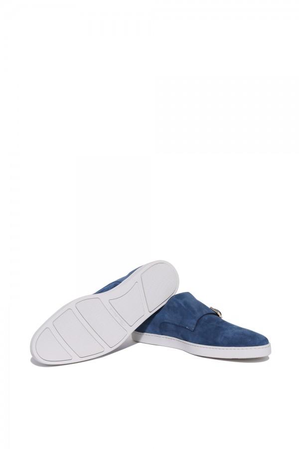 Süet Deri Çift Tokali Sneakers