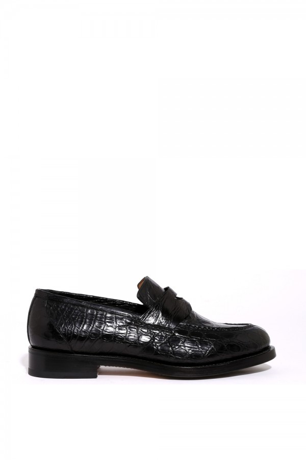 Crocodile Deri Klasik Ayakkabı