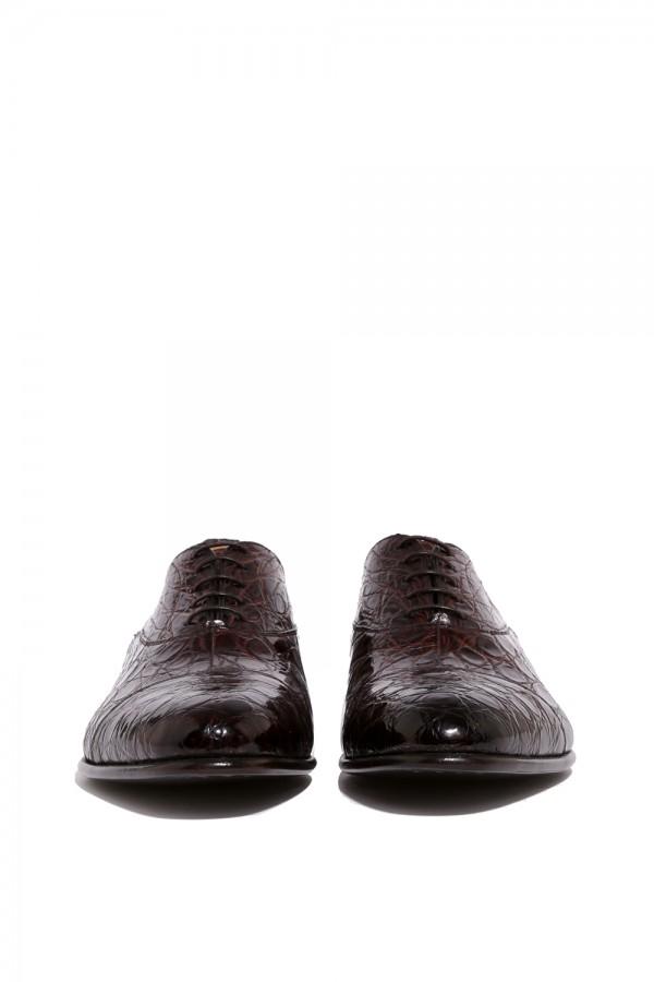 Kahverengi Crocodille Klasik Ayakkabı