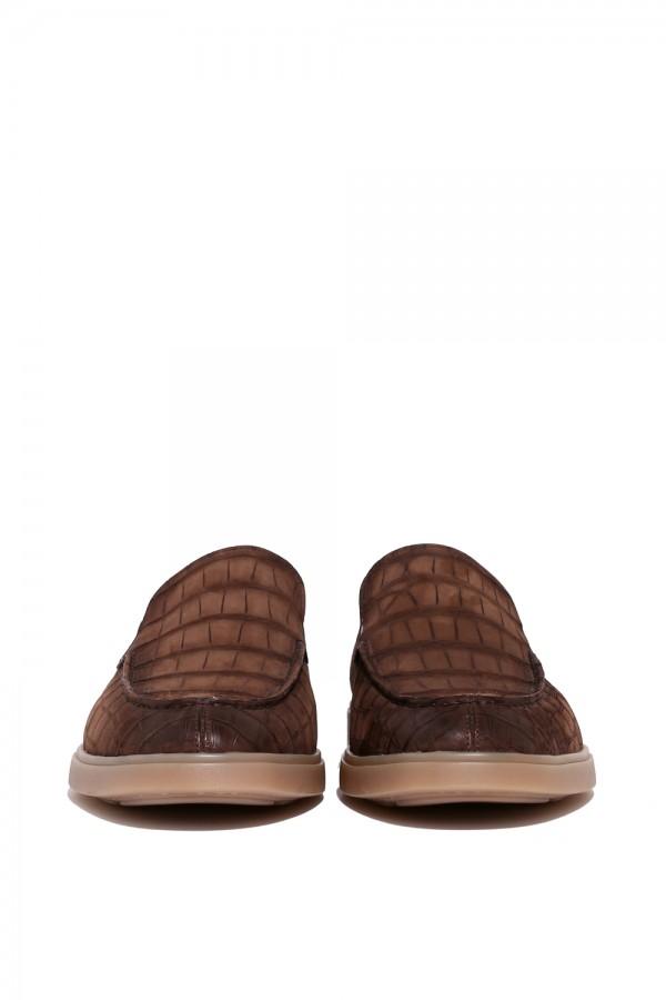Crocodille Deri Nubuk Loafer