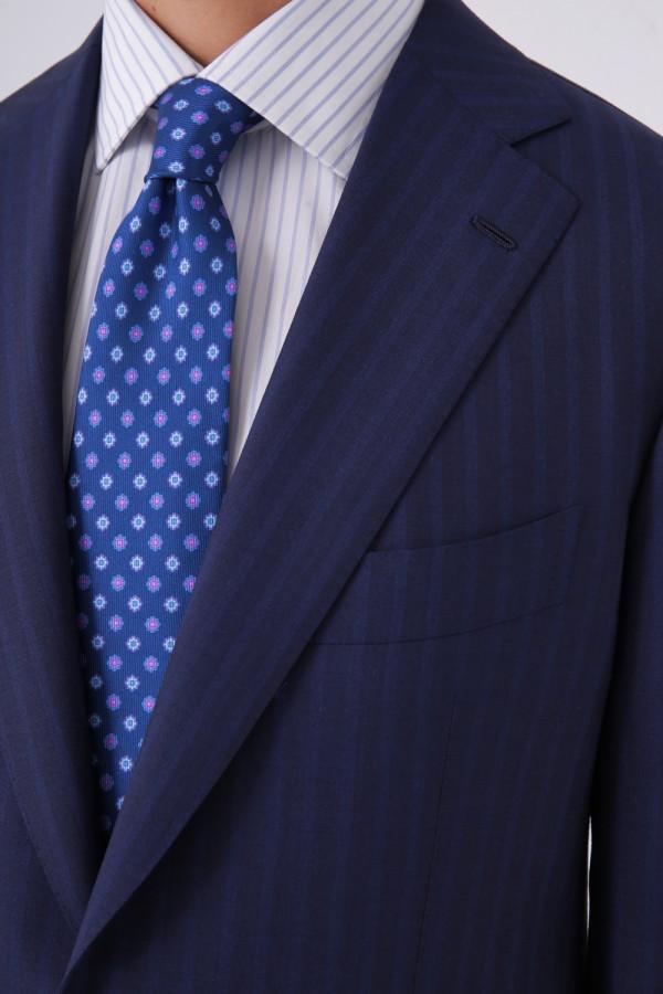 7 Drop 2 Düğme 2 Yırtmaç Napolitan Takım Elbise