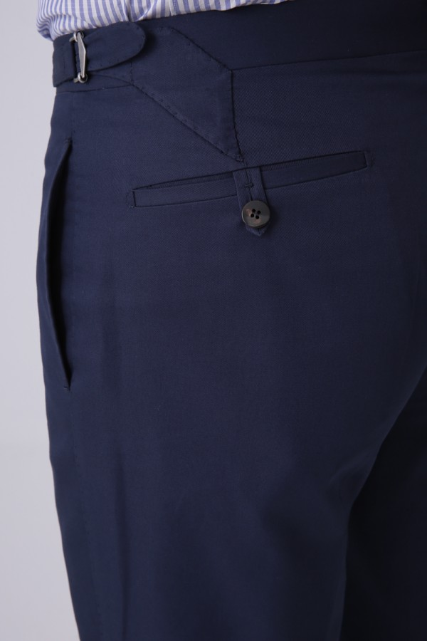Yandan Cepli Cotton Pantolon