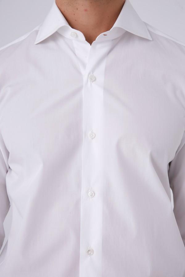 Napolitan Düz beyaz Gömlek