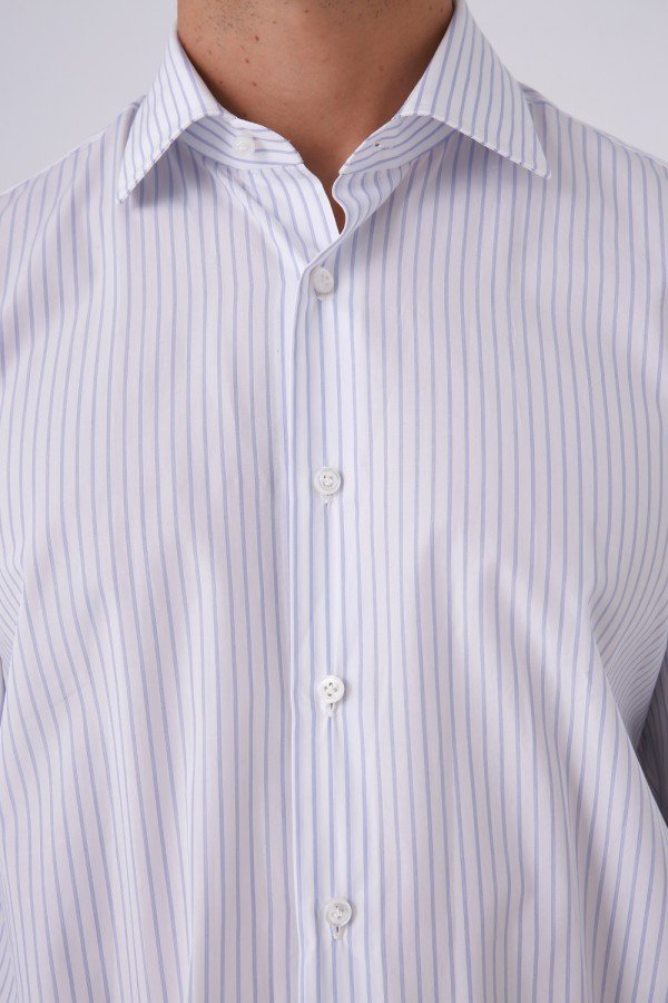 Napolitan Mavi Çizgili Gömlek
