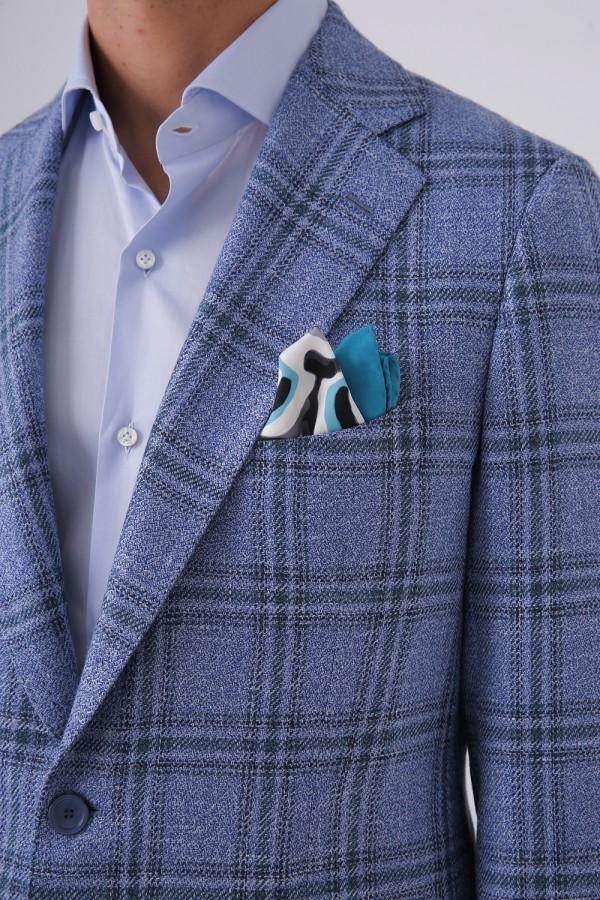 7 Drop 2 Düğme Çift Yırtmaç Mono Yaka Napolitan Ceket