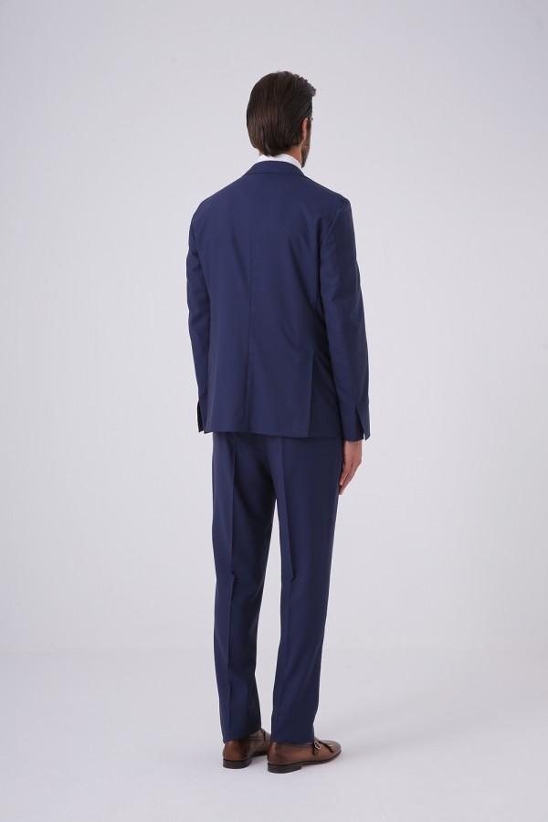 7 Drop Mono Yaka Yarım Astar Napolitan Takım Elbise