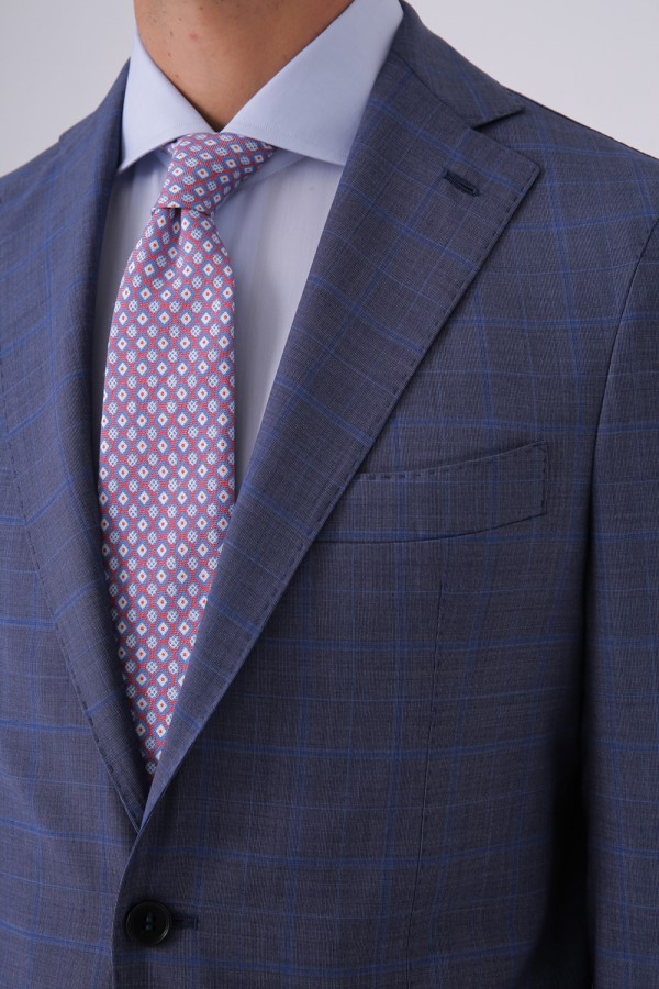 7 Drop Mono Yaka Napolitan Takım Elbise
