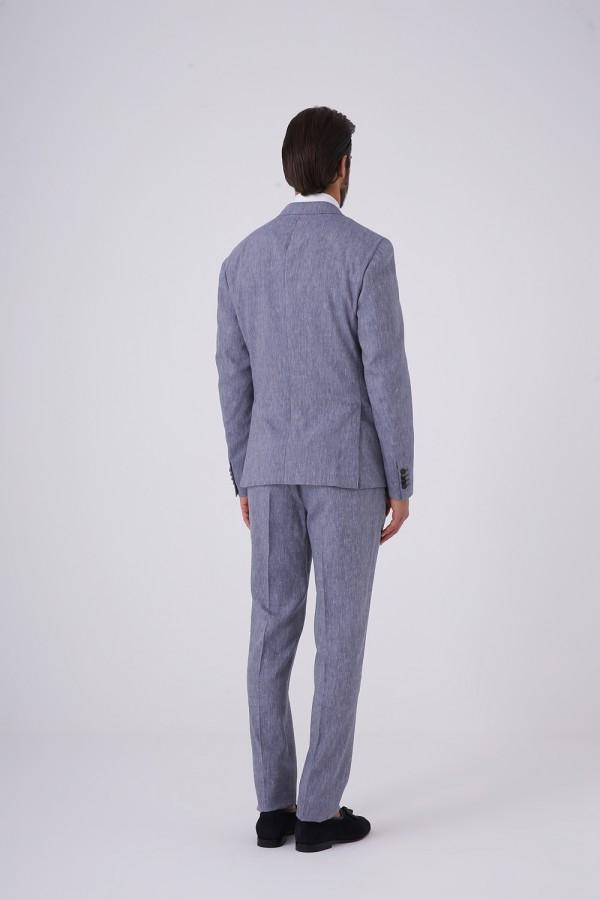 6 Drop 2 Düğme 2 Yırtmaç Mono Yaka Takım Elbise