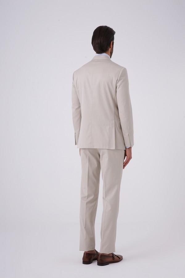 7 Drop Mono Yaka Yarım Astar Takım Elbise