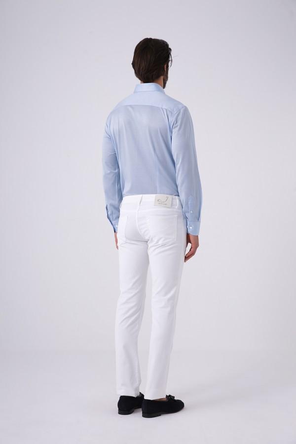 Italyan Yaka Jersey Gömlek